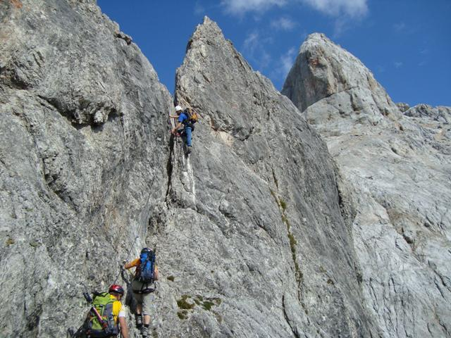 Klettersteig Hochkönig : Stein und schnee :: datenbank für alpinistische routen